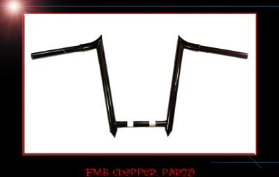 "12"" NARROW SPIKED BARS CUSTOM MADE APEHANGER HANDLEBARS"